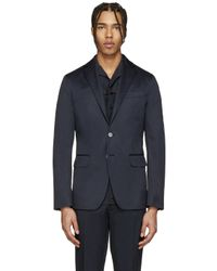 DSquared² - Blue Navy Cotton Blazer for Men - Lyst