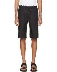 Maison Margiela - Black Micro-gabardine Shorts for Men - Lyst