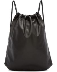 Marc Jacobs - Black Leather Drawstring Backpack - Lyst