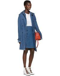 A.P.C. - Blue Denim Boat Skirt - Lyst