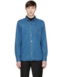 A.P.C. - Blue Indigo Denim Kansas Shirt for Men - Lyst