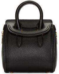 Alexander McQueen | Black Leather Mini Heroine Bag | Lyst