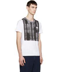 Alexander McQueen | White Degrade Skull Logo T-shirt for Men | Lyst