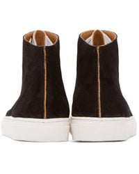 Damir Doma - Black Suede Framio High-top Sneakers for Men - Lyst