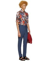 Marni - Blue Wool Trousers for Men - Lyst