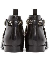 Saint Laurent - Black Studded London Boots for Men - Lyst