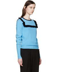J.W.Anderson - Blue Frill Sweater - Lyst