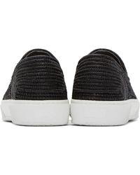 Robert Clergerie - White Black Raffia Slip-on Sneakers for Men - Lyst