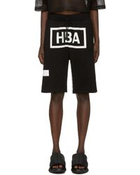 Hood By Air - Black & White Box Logo Shorts for Men - Lyst
