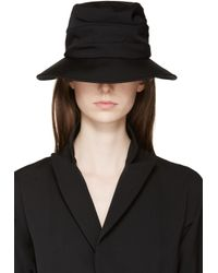 Yohji Yamamoto - Black Slouchy Brimmed Hat - Lyst