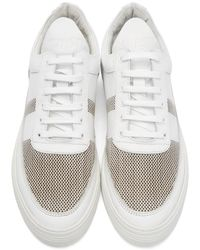 Filling Pieces - White Perforated Stripe Sneakers for Men - Lyst