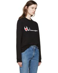 Vetements - Black Large Logo Pullover - Lyst