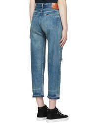 Chimala - Blue Indigo Used Ankle Cut Jeans - Lyst