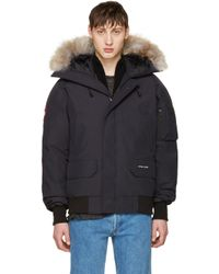 Canada Goose | Blue Navy Down Chilliwack Bomber Jacket for Men | Lyst