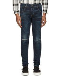 Rag & Bone | Blue Indigo Standard Issue Fit 1 Jeans for Men | Lyst