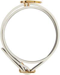 McQ   White Mini Wrap Swallow Bracelet   Lyst