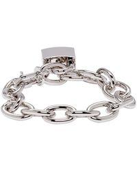 DSquared² | Metallic Silver Lock Chain Bracelet for Men | Lyst