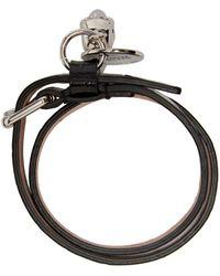 Alexander McQueen - Black Croc-embossed Double Wrap Bracelet - Lyst