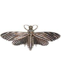 Alexander McQueen | Metallic Silver Moth Pin | Lyst