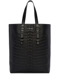 Alexander McQueen - Black Rib Cage Tote for Men - Lyst