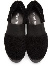 Opening Ceremony - Black Shearling Sneaker - Lyst
