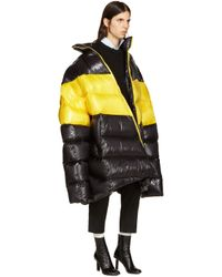 Raf Simons - Black Down Oversized Coat - Lyst