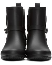 Burberry - Black Riddlestone Rubber Rainboots - Lyst