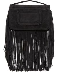 Pierre Hardy - Black Suede Fringed Alpha Clutch - Lyst