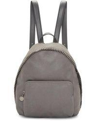 Stella McCartney | Gray Grey Small Falabella Shaggy Deer Backpack | Lyst