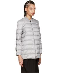 Moncler Gamme Rouge - Gray Grey Wool Rosier Coat - Lyst