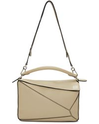 Loewe | Gray Puzzle Small Leather Shoulder Bag | Lyst