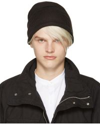 Attachment Gray Grey Wool Beanie for men