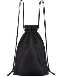 Homme Plissé Issey Miyake Black Boxpleat Backpack for men