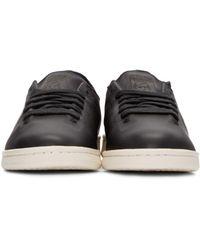 Adidas Originals - Black Stan Smith Lea Sock Sneakers for Men - Lyst
