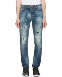 Nudie Jeans | Blue Grim Tim Jeans for Men | Lyst