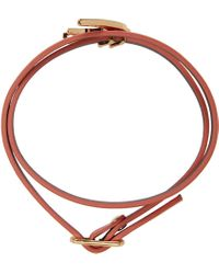 McQ   Pink Swallow Mini Wrap Bracelet   Lyst