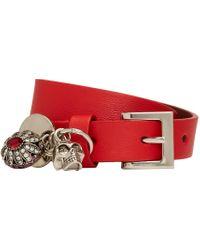 Alexander McQueen | Red Fly Double-wrap Bracelet | Lyst