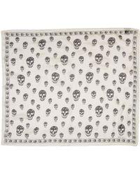 Alexander McQueen   White Ivory Silk Skull Scarf   Lyst