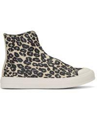 Alexander McQueen   White Ivory Leopard High-top Sneaker for Men   Lyst