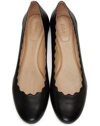 Chloé | Black Lauren Ballerina Flats | Lyst