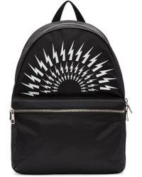 Neil Barrett | Black Thunderbolt Backpack for Men | Lyst