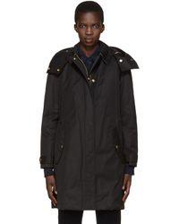 Burberry - Black Harlington Hooded Parka Jacket - Lyst