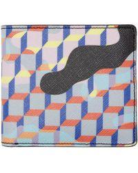 Pierre Hardy - Blue Multicolor Camocube Wallet - Lyst