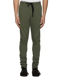 Ann Demeulemeester | Green Button Lounge Pants for Men | Lyst