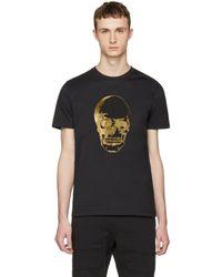 Markus Lupfer | Black & Gold Skull T-shirt for Men | Lyst