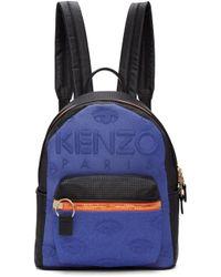 KENZO | Blue & Black Kombo Backpack | Lyst
