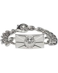 Versus | Metallic Silver Lion Chain Bracelet | Lyst