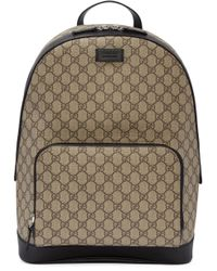 Gucci | Natural Beige Gg Supreme Backpack for Men | Lyst