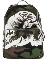 Valentino - Green Panther Backpack for Men - Lyst