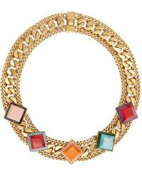 Fendi | Metallic Gold Rainbow Necklace | Lyst